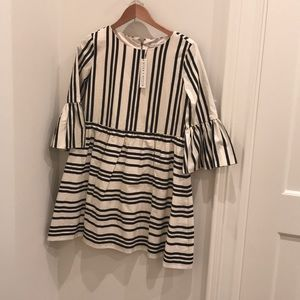 Alice and Olivia black and white striped dress